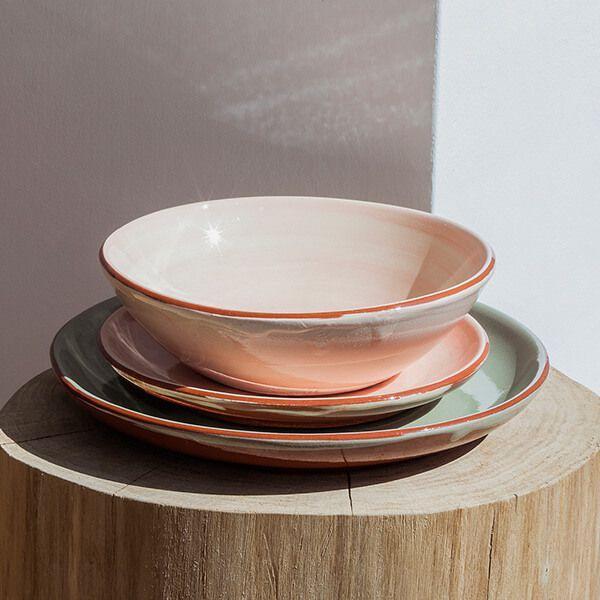 keramikgeschirr rosa Detailbild-1